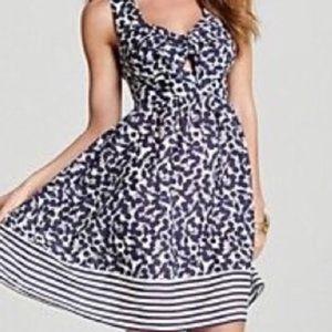 Nanette Lepore blue and white cherry dress